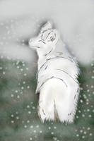 luna's first snow by Meeka-The-Fire-Wolf