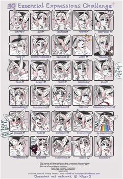30 Expressions Challenge by LaraWesker