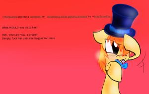 Answering with a hat by S-M-Batty