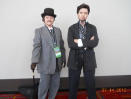 Sherlock and John at Connecticon 2012 by PsychoBabble192