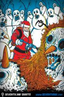 Santa's Last Stand iPhone Wall by seventhfury