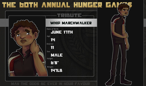 60th Hunger Games Tribute: Whip Marchwalker by SirSmudge