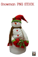 Snowman PNG STOCK by KarahRobinson-Art