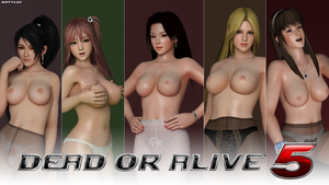 DOA5 Topless Render Collaboration Wallpaper 2015 by bstylez