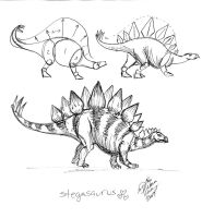 Draw a Stegosaurus 1 by Diana-Huang