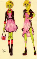 Valentines Day Zombie outfits by luci123