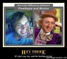 Pewdie and Wonka by The-Hero-Of-Thyme