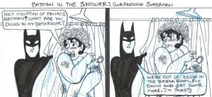 Batman in the Shower: Superman by brensey