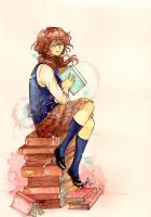 Bookworm .:A tale of love between books and girl:. by GYRHS