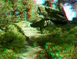 By the Dolmen 3D Anaglyph by yellowishhaze