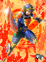 COMMISSION - Bishoujo Rider Gaim by jadenkaiba