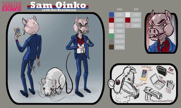 Sam Oinko Reference Sheet by TheGreatGod