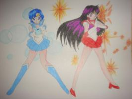 sailor mercury and sailor mars power by silvermoonmagic