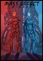Mass Effect: Binary - cover page by ReaperRain