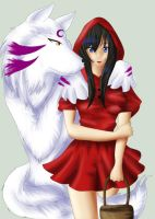SessKag:Little Red Riding Hood by Line-arts