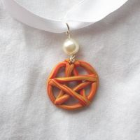 Fire Pentacle Necklace by DarkFireRaven