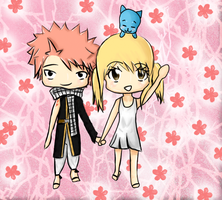 NaLu and Happy by Heartfilia9