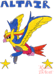 Pokemon Fusion/Redesing OC: Altair by LocalAlly