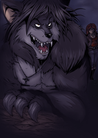 Werewolf at Night by ZoeStead