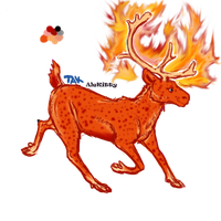 Caribou character for sale Fire-season by alekitty86f