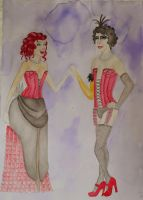 Rocky Horror Dresses - water colour 2 by Regular-Frankie-fan