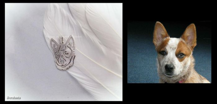 'Lovely doggy', handmade sterling silver pendant by seralune