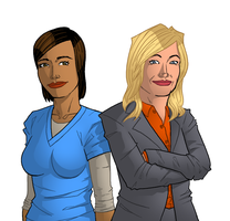 Parks and Recreation - Leslie and Ann by zAidoT