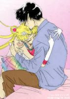 Super Sailor Moon and Mamoru by MoonPrincessNikoru