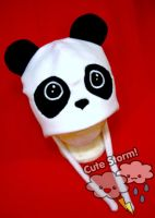 Kawaii panda hat by The-Cute-Storm