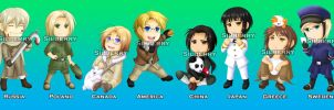 Keychains - Hetalia by Silberry