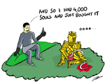 Dark Souls - Lautrac asks about extra humainity by CaptainToog