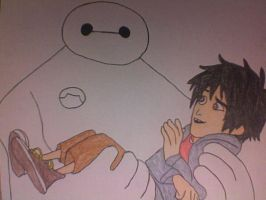 Hiro and Baymax by Kailie2122