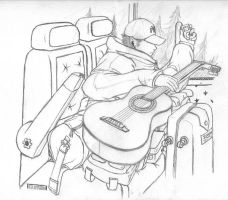 Guitarist.... A school project by sebaboi