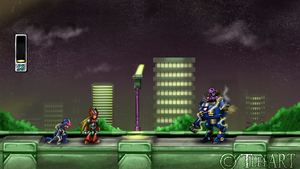 Megaman X: Zero Appears by TLEEART