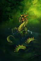 Serpent of the swamp by Amadoodles