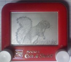 Etch a Sketch- Squirrel by jivu