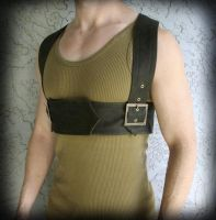 Mens Leather Chest Harness by ByKato