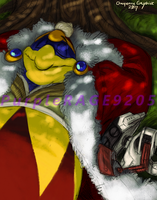 King Dedede and ROB afternoon nap Color by PurpleRAGE9205
