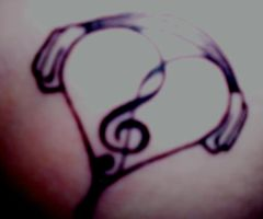Music Tattoo by lehipponain
