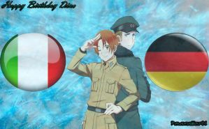 Italy and Germany(Request For lord-snoozles-twink) by Paradisewolf01