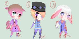 Cute Adoptables OPEN 150pts by KandyKain-Adopts