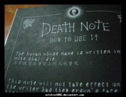 Death Note by witchie1002