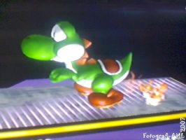 Yoshi fire fart by Altair01