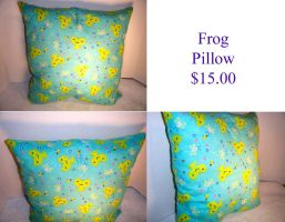 Frog Pillow by The2SistersShoppe