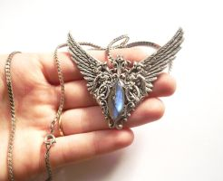 Sterling Silver Arcane Labradorite Pendant by Hidden-Treasury