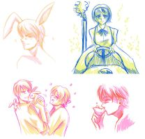 APH Anonmeme sketches by R-ninja