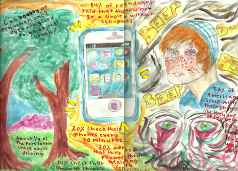 Cellphone Addiction (For Class) by NOTEBLUE13