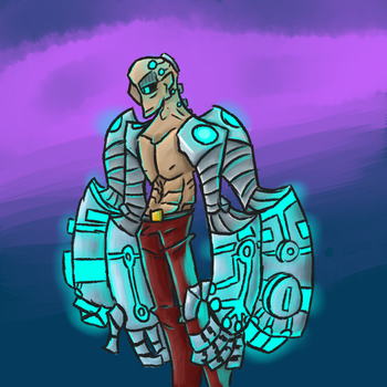 Cyborg man by StatykElectricity