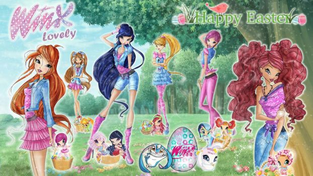 Winx Club: Happy Easter by WinxLovely