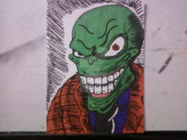 THE MASK SKETCH CARD by shawncomicart